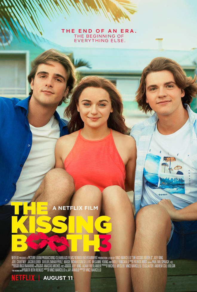 The new poster for The Kissing Booth 3