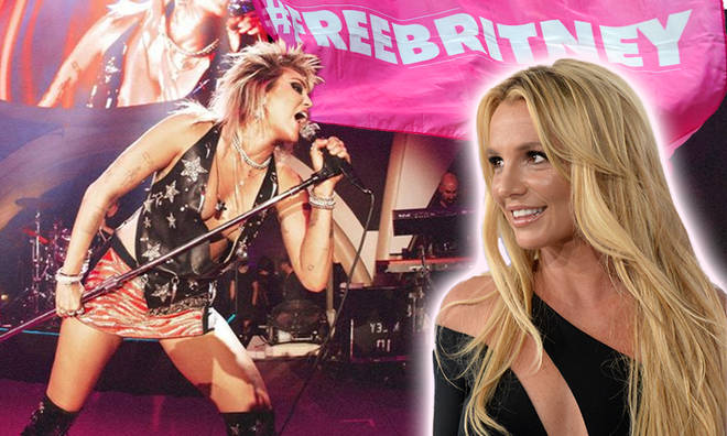 """Miley Cyrus chants """"Free Britney!"""" during 'Party in the U.S.A' performance"""