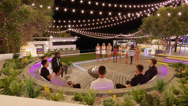 The Love Island cast gather round the fire pit for another recoupling