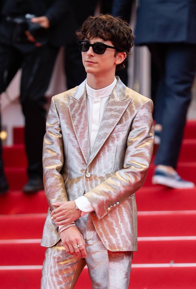 Timothée Chalamet wows fans in metallic suit at Cannes Film Festival