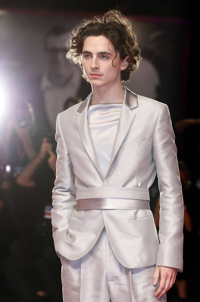 Timothée Chalamet continues to push the boundaries of male fashion on the red carpet.
