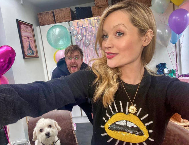 Laura Whitmore and husband Iain Stirling