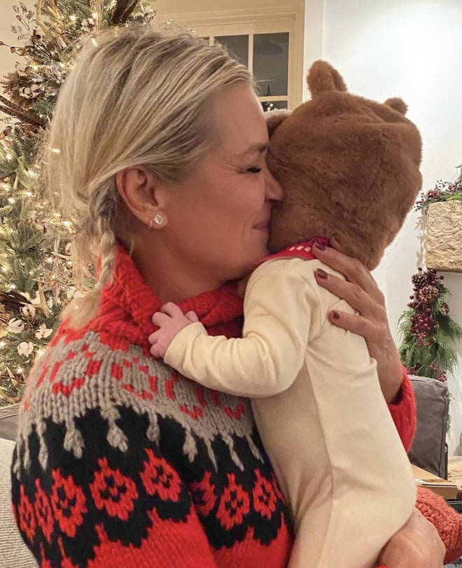 Baby Khai has been spending time with her grandmother Yolanda Hadid