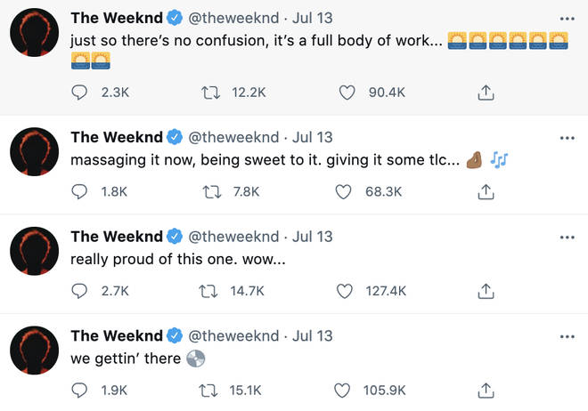 The Weeknd teased his new album