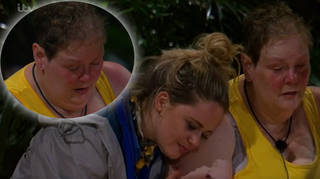 Anne Hegerty gets emotional as they enter basic camp on I'm A Celebrity