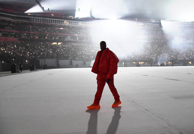 Kanye West at his 'Donda' album launch