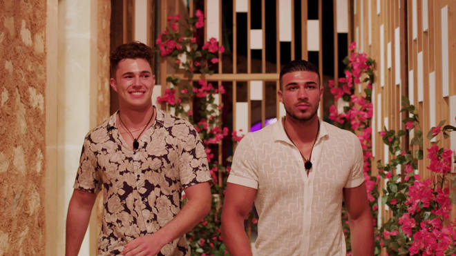 Curtis Pritchard and Tommy Fury entered the villa at the same time