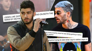 Fans have been trying to work out what Zayn Malik's new face tattoo says