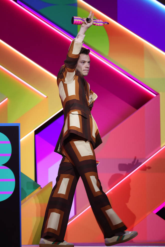 Harry Styles wore the retro Gucci suit to The BRITs 2021