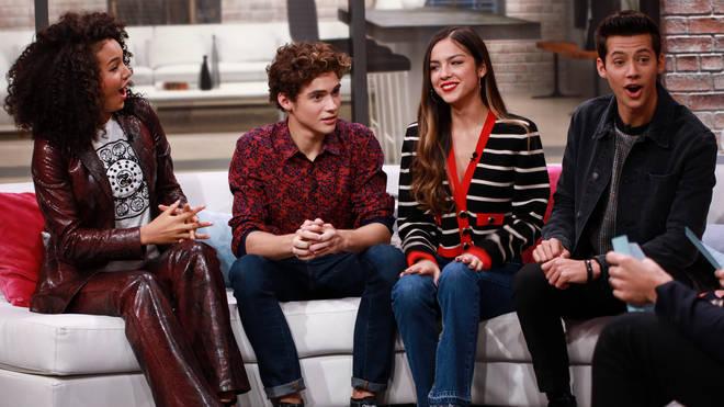 Olivia Rodrigo and her HSMTMTS co-stars