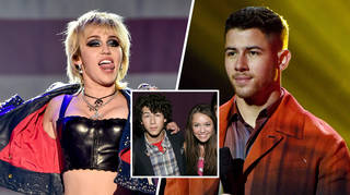 Miley Cyrus and Nick Jonas dated as teenagers