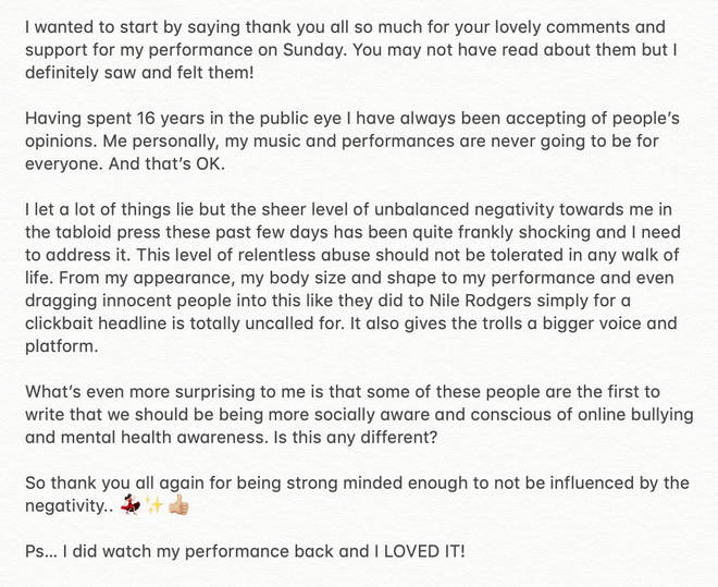 Cheryl's Statement Following Negative Abuse Online
