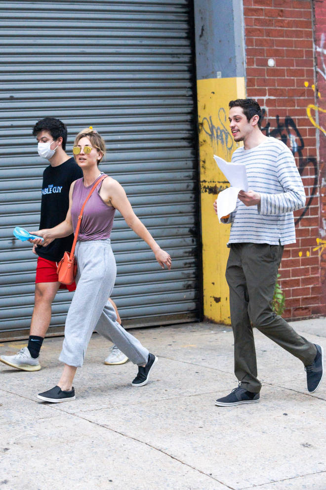 Pete Davidson is working on a film in New York with Kaley Cuoco