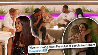 Why did Priya spill the tea to Faye?