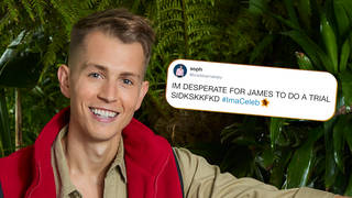 James McVey's fans are rallying to get him more screen-time on I'm A Celeb