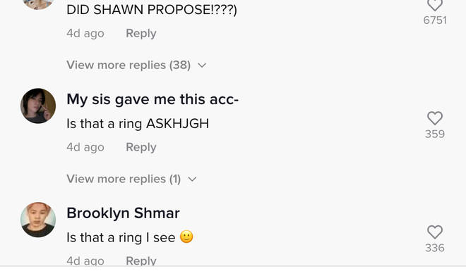 Fans speculated about whether Camila Cabello was engaged