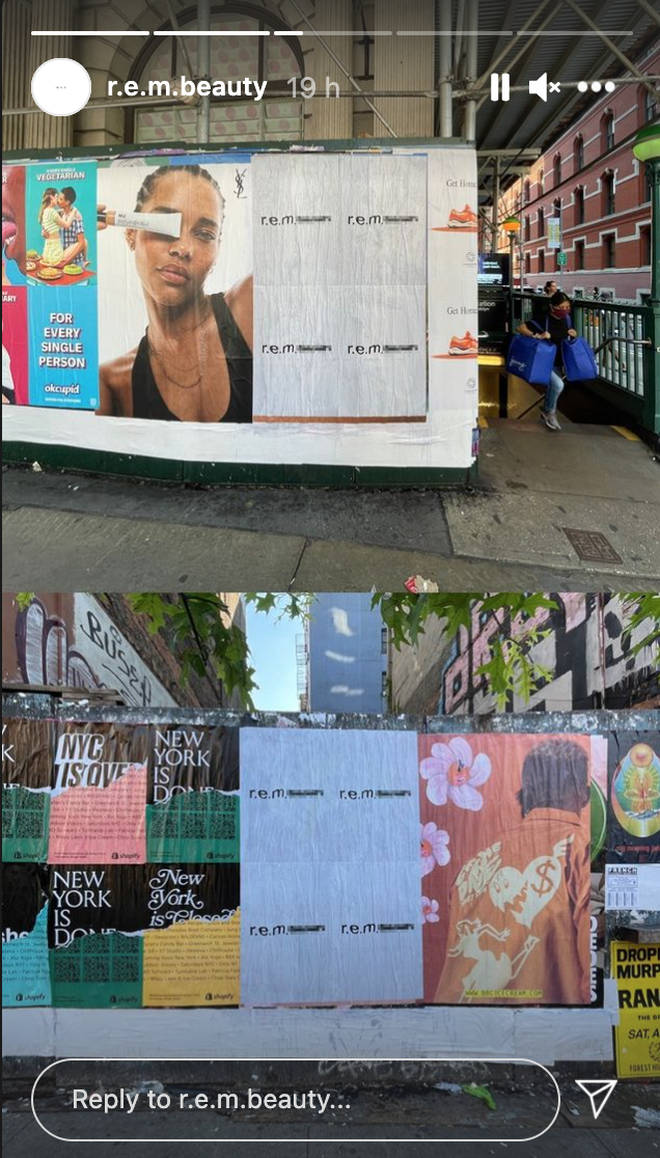 R.E.M Beauty adverts are popping up all over New York
