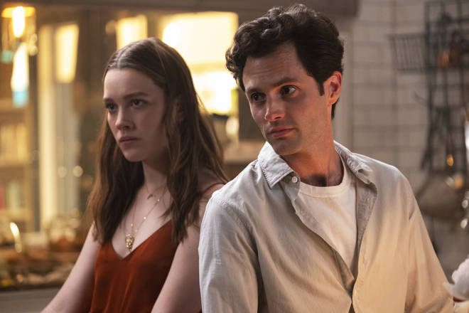 Where did Penn Badgley and Victoria Pedretti's characters leave off in season 2
