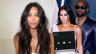 Kim Kardashian fans noticed she was listening to 'Donda' on mute