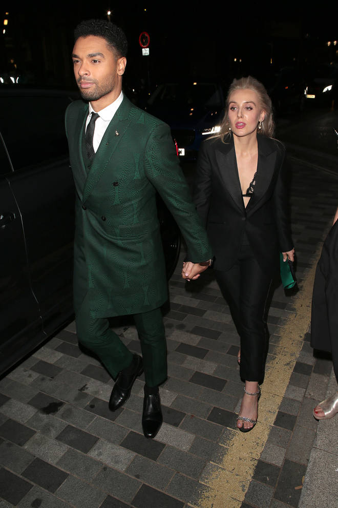 Regé and girlfriend Emily Brown made a rare appearance at the 2021 GQ Men of the Year Awards in London