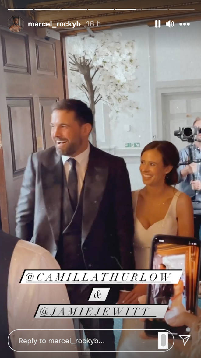 The Love Island pair were introduced as Jamie and Camila Jewitt