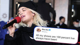 """Rita Ora has said it was `""""annoying"""" that she had to lip-sync during her Thanksgiving performance"""