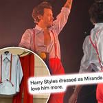 Harry Styles drew inspiration from an unlikely place with his latest outfit