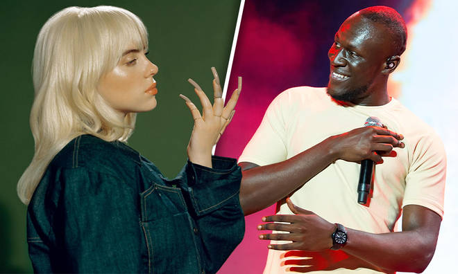 Billie Eilish and Stormzy talk about fame and anxiety