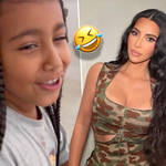 North West hilariously trolled Kim Kardashian for 'talking different'