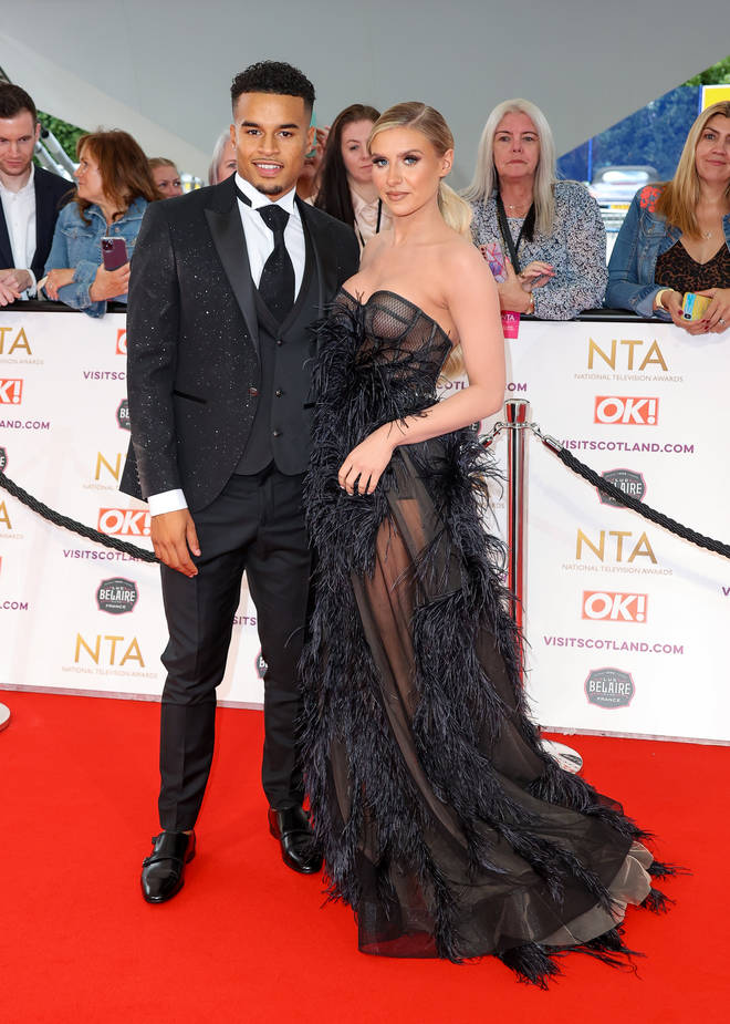 Love Island finalists Chloe Burrows and Toby Aromolaran attended the NTAs