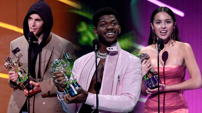 Lil Nas X and Olivia Rodrigo won big at the MTV VMAs 2021