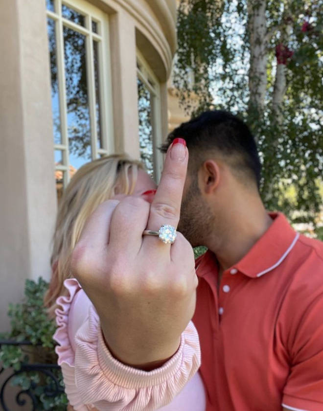 Britney Spears' boyfriend popped the question after five years together