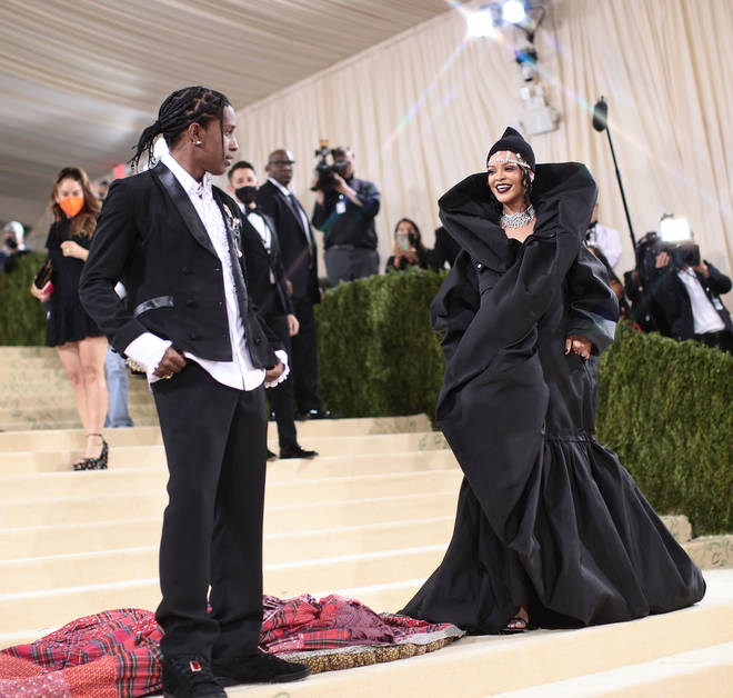Rihanna and A$AP Rocky walked the carpet together