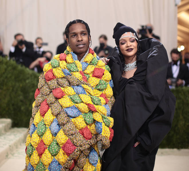 Rihanna and A$AP Rocky at the 2021 MET Gala