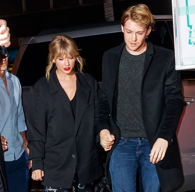 Taylor Swift is keeping her boyfriend company whilst he works in Ireland