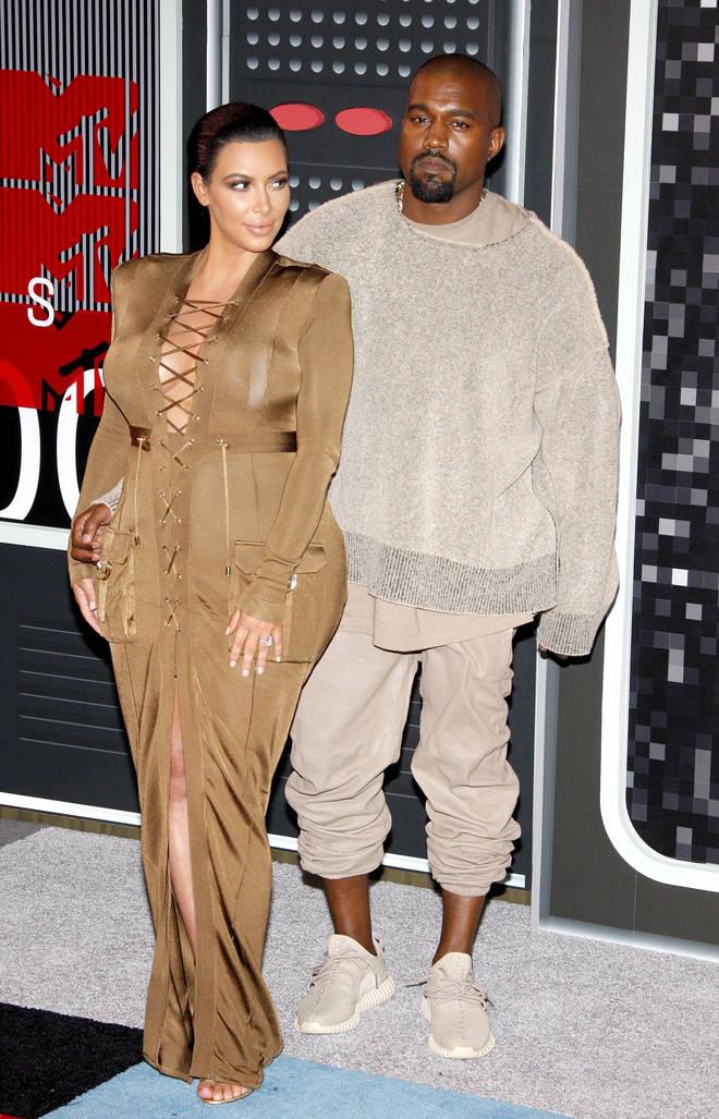 Kanye West has fuelled rumours he's back with Kim Kardashian