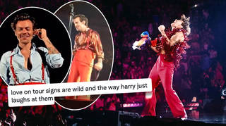 Harry Styles' fans have been taking a lot of signs to the Love On Tour shows