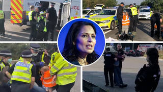 Protesters have blocked parts of the M25 for a third day this week.