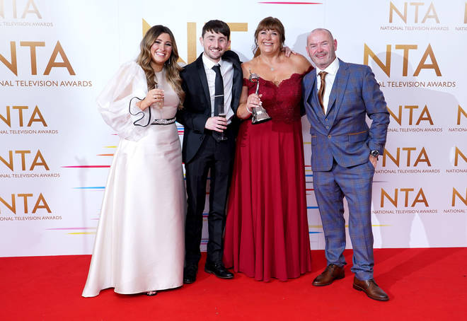 Pete and Sophie and the Malones collected Gogglebox's NTA win