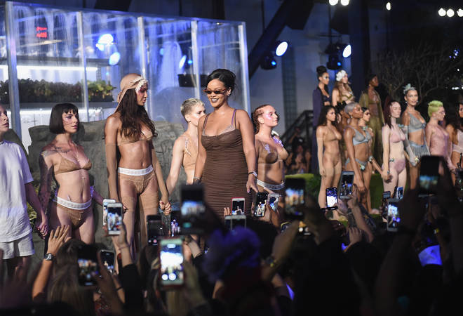 Rihanna at her Savage x Fenty 2018 show