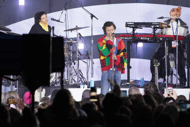 Harry Styles' patchwork cardigan now sits in the V&A