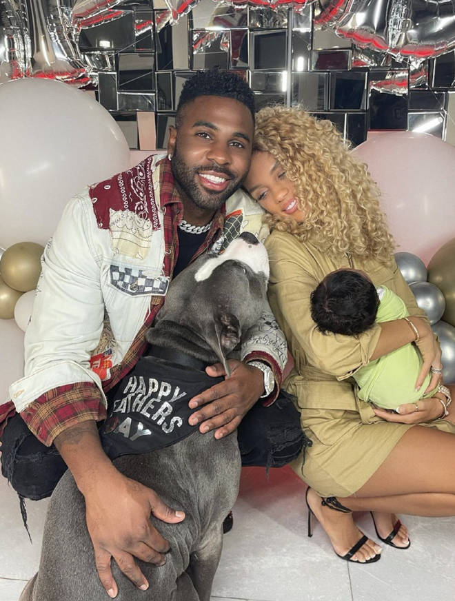 Jena Frumes and Jason Derulo welcomed their son in May