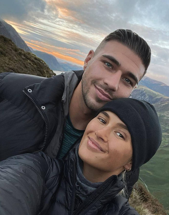 Molly-Mae and Tommy Fury cosy up at home during her recovery