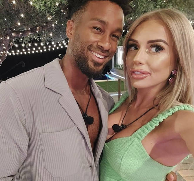 Faye and Teddy came in third place on Love Island 2021