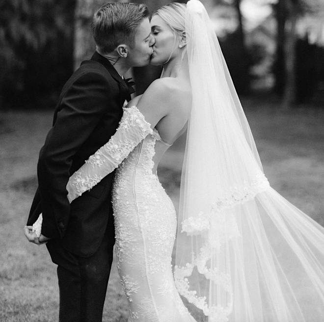 Hailey shared personal snaps from the big day