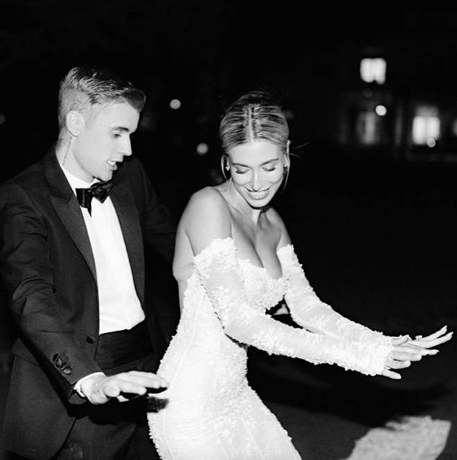 Justin Bieber and Hailey Baldwin took to the dance floor on their wedding day