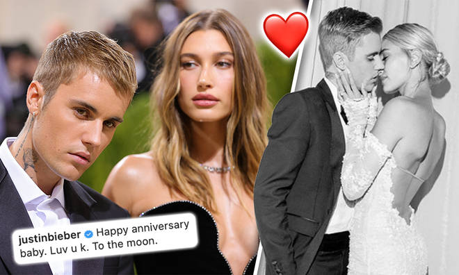 Hailey and Justin Beiber mark three years since they tied the knot