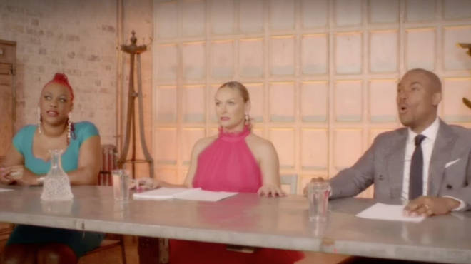 The Married at First Sight UK experts look shocked at one moment in the reunion