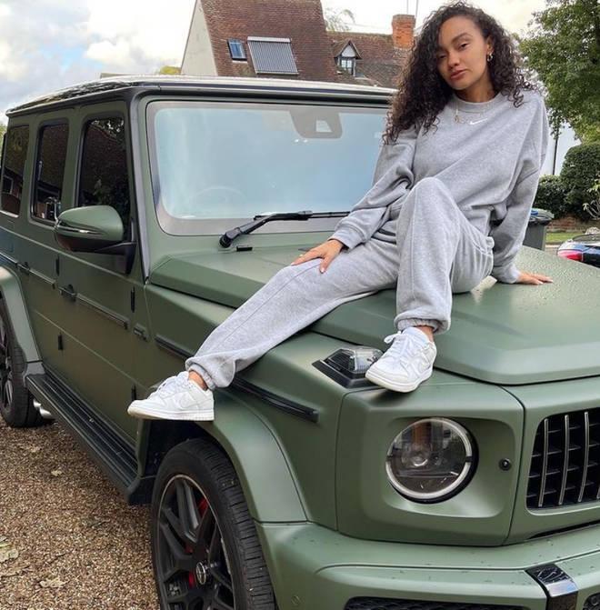 Leigh-Anne Pinnock's fiancé gifted her a khaki jeep