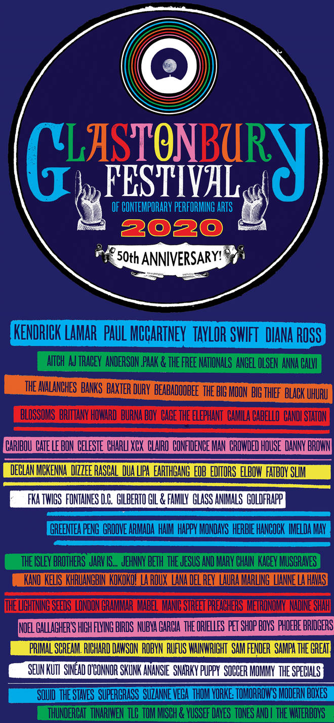 Glastonbury's 2020 line-up will be altered for 2022